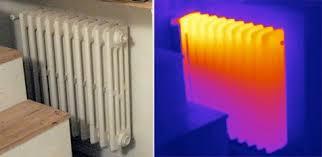 Immagine termografica termosifone